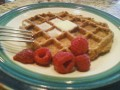 Homemade Waffle Recipe - Whole Wheat, Milk Free and Egg Free