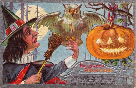 Halloween postcard, mailed in 1910.