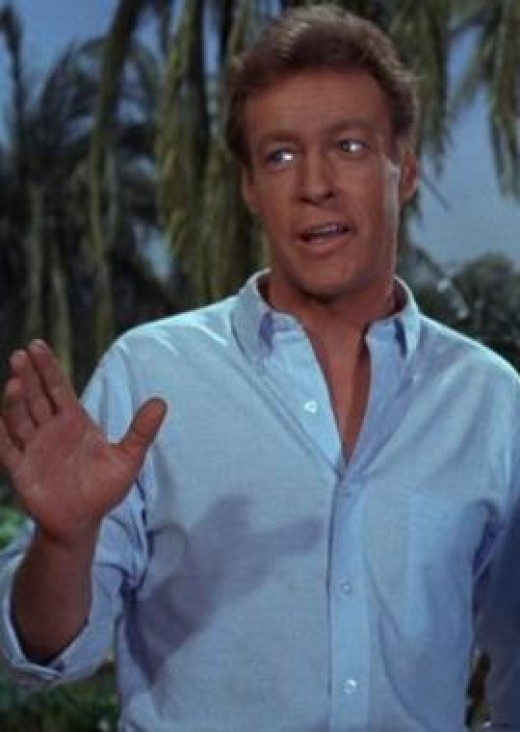 A screenshot showing Russell Johnson as The Professor from Gilligan's Island