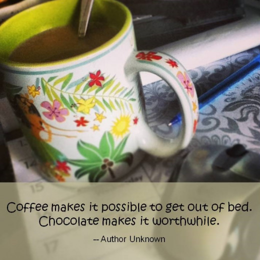 Try a spoonful of Nutella swirled into your coffee. It makes a yummy chocolaty treat in the middle of a busy workday!