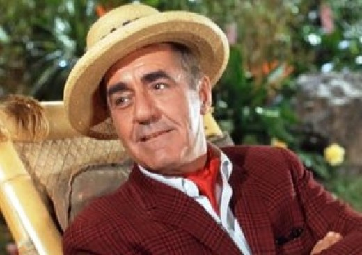 A film screenshot showing Jim Backus as Thurston Howell, III, the millionaire from Gilligan's Island