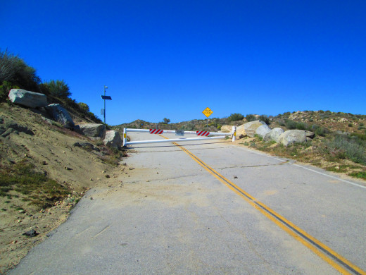 Only the a few miles of Highway 173 past Lake Arrowhead are paved.