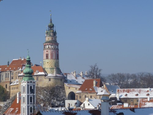 One of Cesky Krumlov's most famous attractions. Its ornate castle and tower.