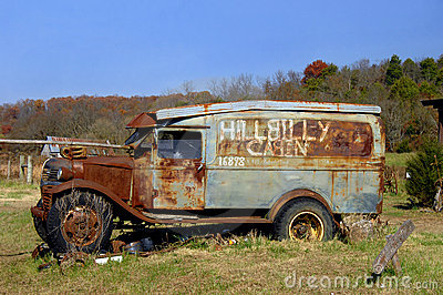 Things like this vintage truck was sitting in Vernon's yard