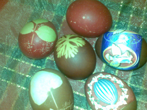 I painted these lovely eggs and will do more.