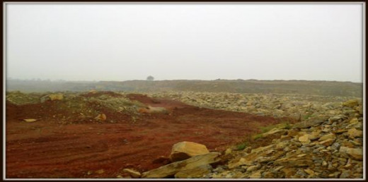 Landscape view of Prism Cement Mines