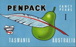 Penpack Pears free cross stitch pattern
