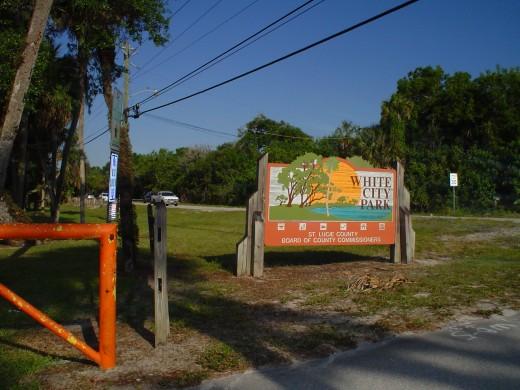 White City Park entrance