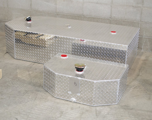 Fuel tanks made from aluminum.