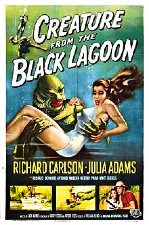 Even The Creature From The Black :Lagoon got its own movie poster