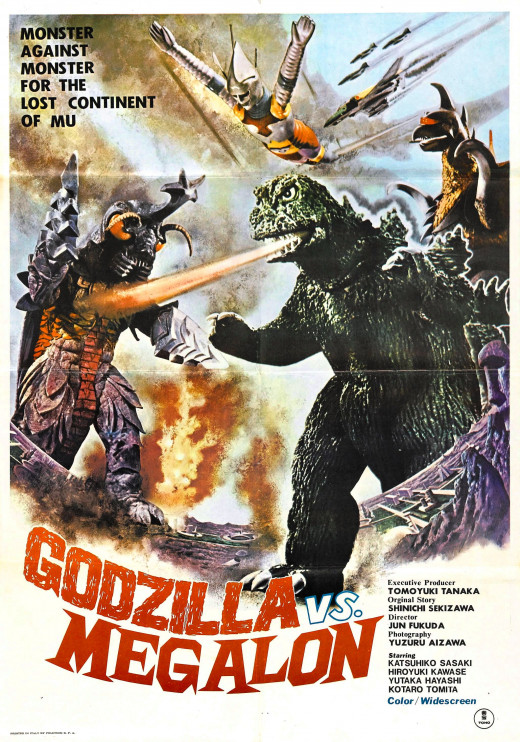 Godzilla Vs. Megalon Movie Poster