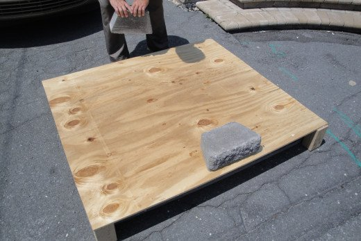 Starting with one paver.