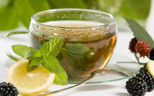 A nice cool glass of peppermint tea