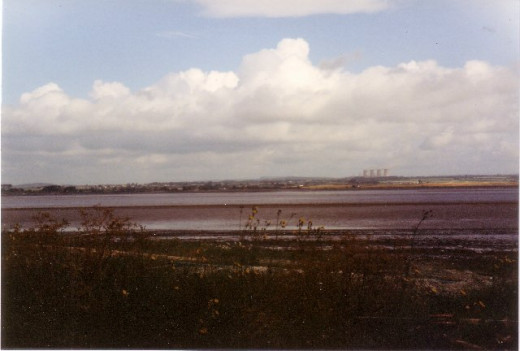 Solway Firth, across these waters Queen Mary made the fateful entry into England.