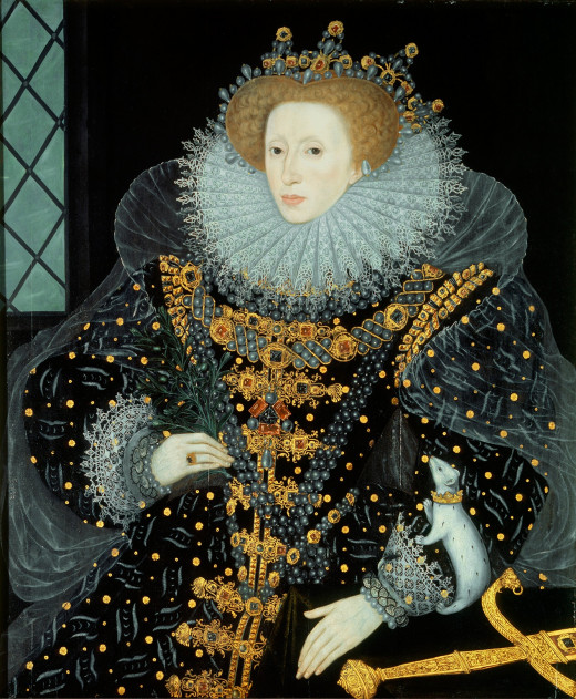"Elizabeth I (1533-1603) sometimes called ""The Virgin Queen"", ""Gloriana"" or ""Good Queen Bess"", Elizabeth was the fifth and last monarch of the Tudor dynasty. She would be succeeded by James VI of Scotland, the only child of Mary, Queen of Scots."