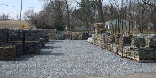 Pavers and landscaping stones.