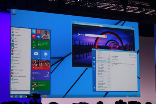 The Start Menu is slated to make a return, together with windowed Windows Store apps, in an upcoming Windows 8.1 update