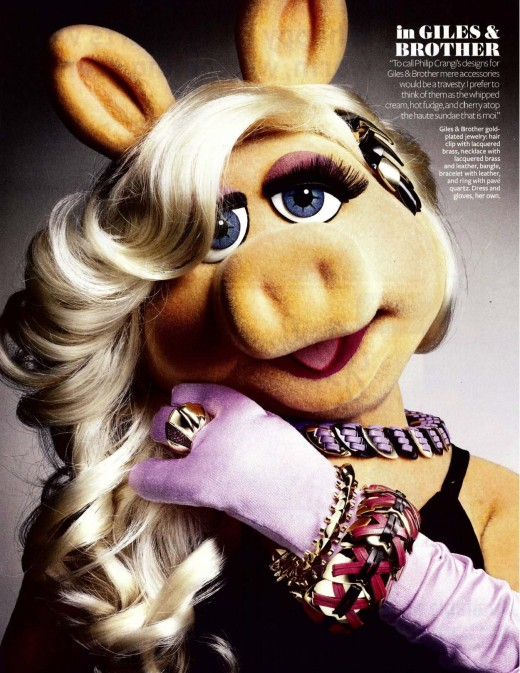 Ms. Piggy on the cover of In-Style Magazine