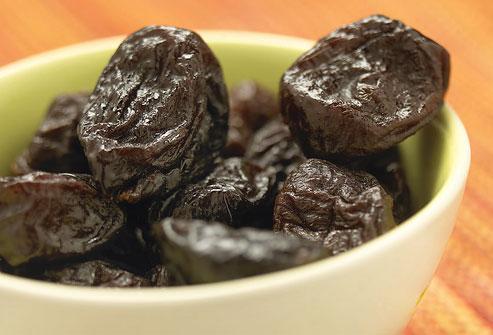 Prunes naturally help soften your stools