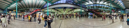 360 degree panoramic view of The Hung Hom Subway Station, formerly known as Kowloon Station in Hong Kong