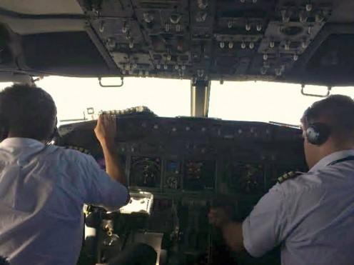 The crammed Flight Deck