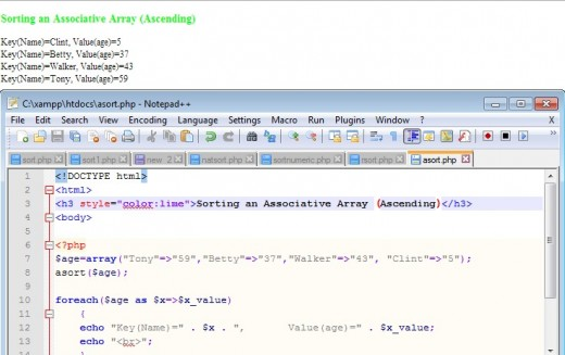 how to add values in an associative array php