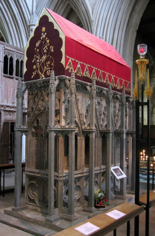 In a poll carried out by the BBC, the shrine of St Alban, in St Albans Cathedral was named one of the UK's top five favourite spiritual places.