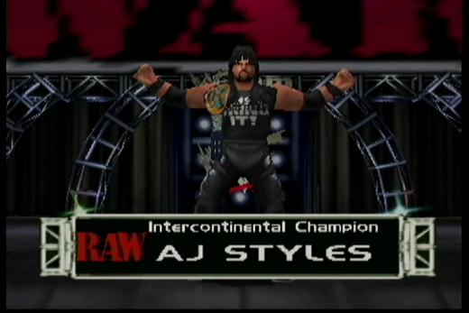 Here's AJ in his latter-day TNA garb in a basic outfit you can make on No Mercy.
