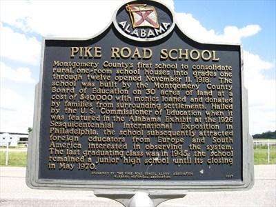 Pike Road School historical marker