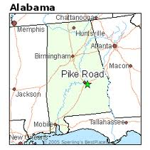 Location of Pike Road