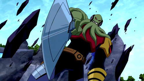 Vilgax using his mighty sword