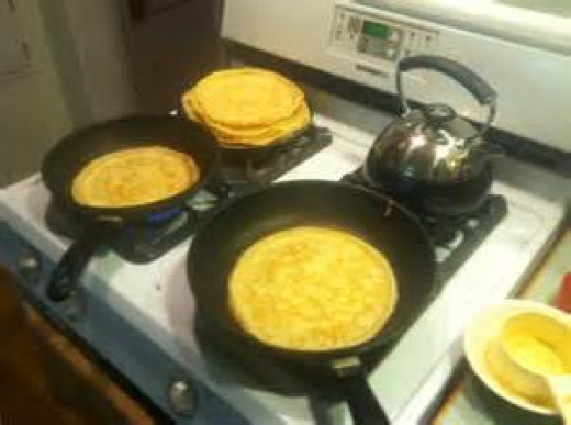 Preparing Crepes for recipes