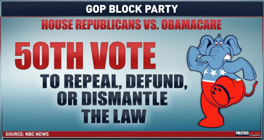 A sad bill of fact, base on obstructionist Tea Party Ideology.