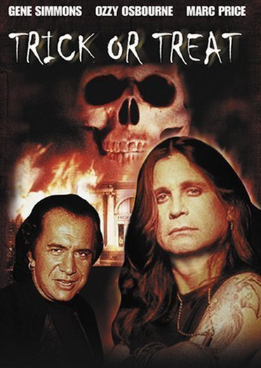 The movie trick or treat is about a Rock n Roll legend who resurrects himself through the power of music to seek vengeance, or something...