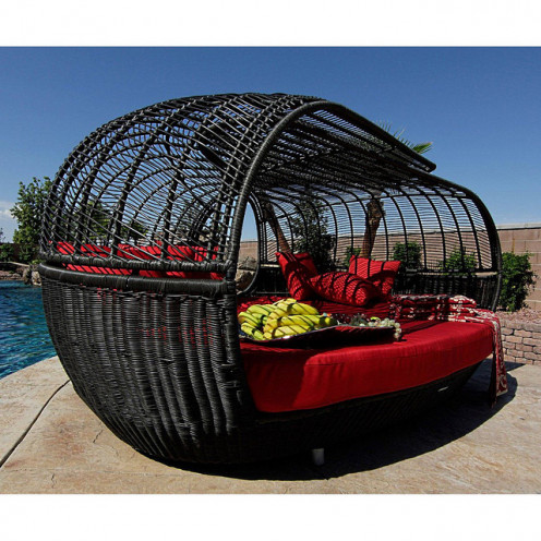 Patio Furniture | Handcrafted Outdoor Wicker Daybed