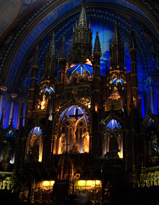 Above: Notre-Dame Basilica - Montreal, Canada