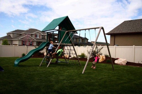 With a playground quality adventure play set you don't have to worry about safety as everything is designed with your kids' well-being in mind.