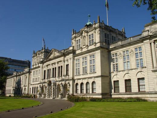 Cardiff University main building.