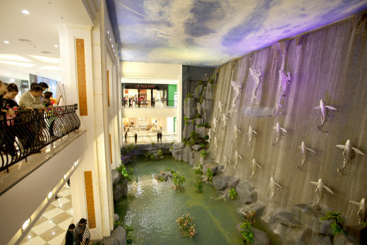 Vincom Mega Mall Royal  WaterFall