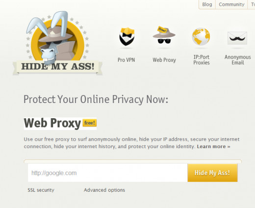 One of web based proxy services