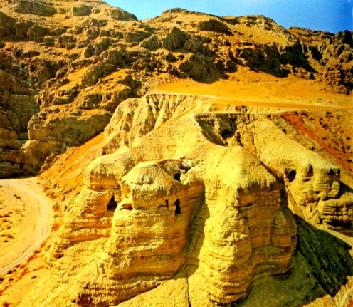 This is Qumran cave no. 4 and it is famous because numerous scrolls were found from this cave and most of them were well preserved inside sealed earthen pots