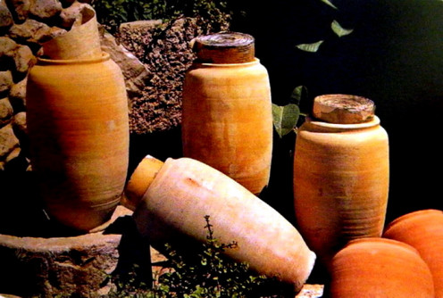 Qumran scrolls written on papyrus and copper sheets were well preserved in earthen pots when discovered.