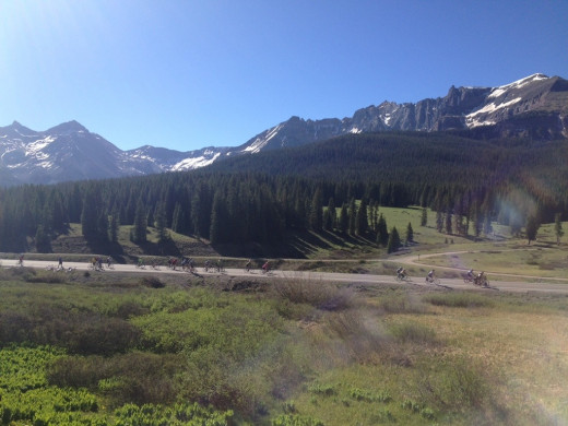 Scenery out of Telluride on 2013 Ride the Rockies
