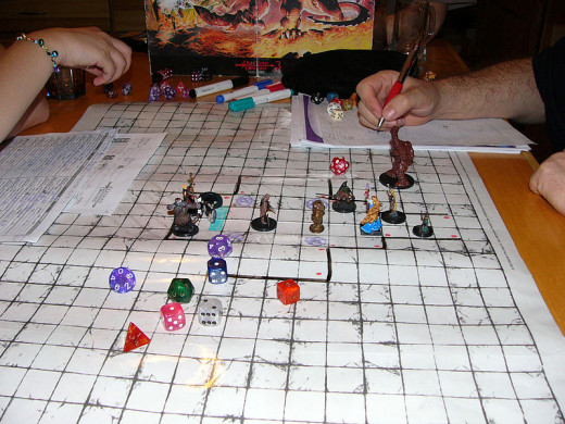 A photo of a Dungeons and Dragons game in play taken by Rocco Pier Luigi