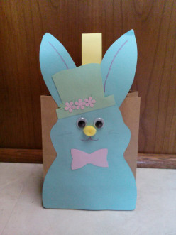 Easter bunny by paper bag/spring craft for children and adults.