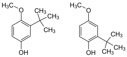 Chemical structure of BHA