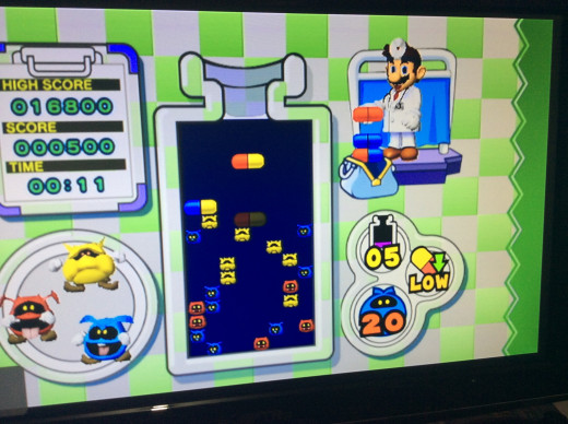 Dr. Mario on the original wii
