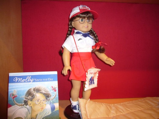American Girl dolls come with books, and in addition you can buy them plenty of clothes and accessories