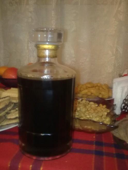 My home-made nut liquor made a year ago.