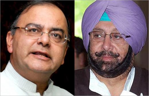 Battle between Congress Amarinmder, former Chief Minister of Punjab and BJP Arun Jaitly